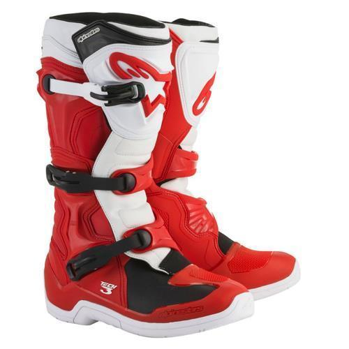 Botas Alpinestars Tech 3 Rojo Blanco 27, 27.5 9 USA