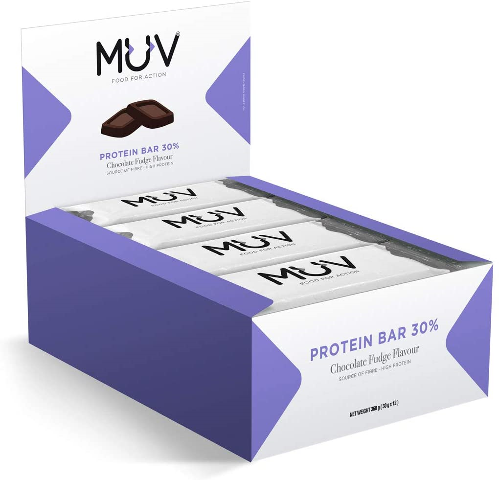 Muv-Food-For-Action-Protein-Bar-Chocolate-Fudge-Flavour-12-x-30-g thumbnail 12