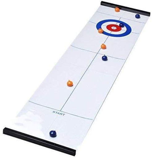 YouTai-Tabletop-Curling-Game-Mini-Compact-Curling-Board-Game-Set-with-8-Pucks thumbnail 6