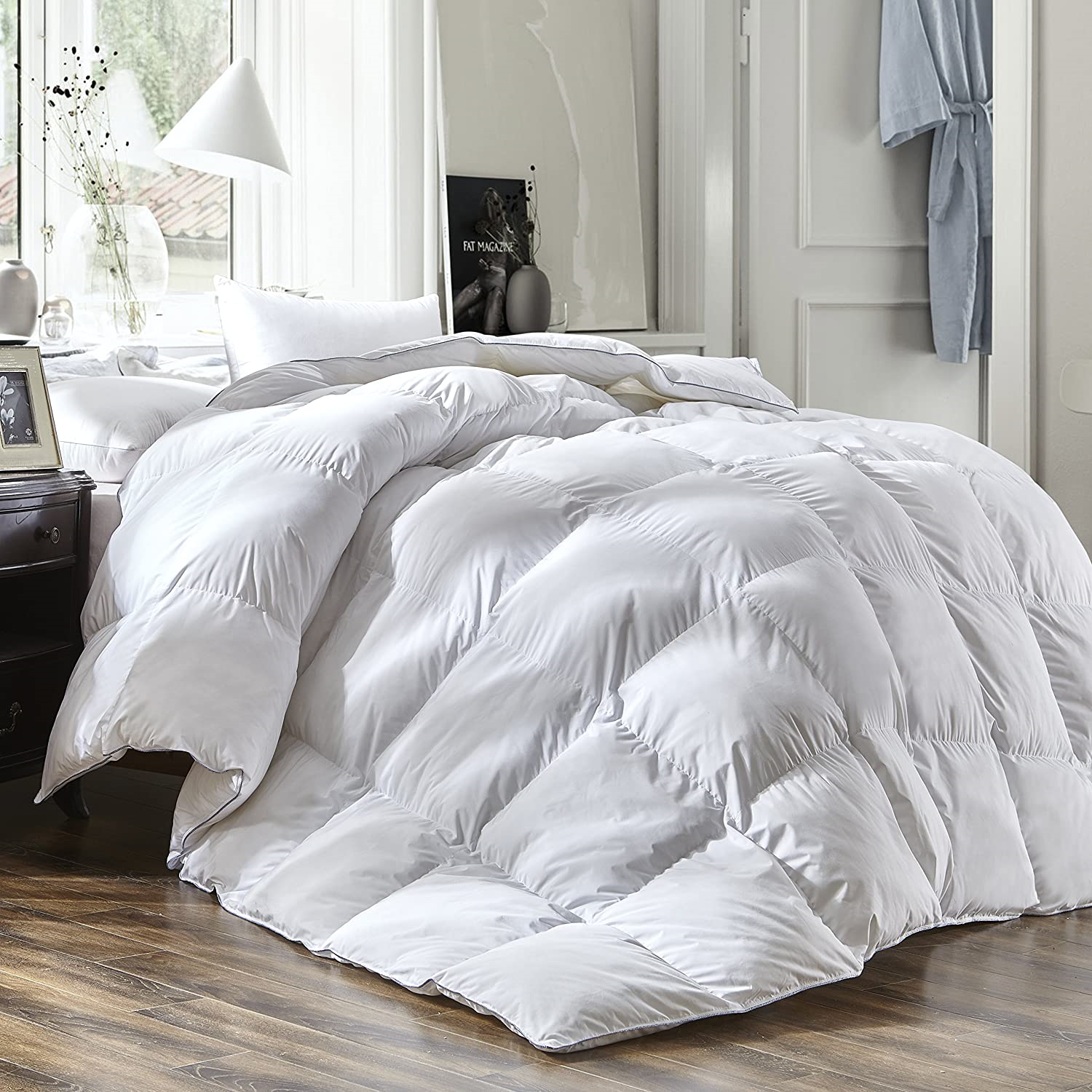 THREE GEESE Luxury King Size White Goose Down Feather Comforter Duvet Insert All 713741589863 | eBay