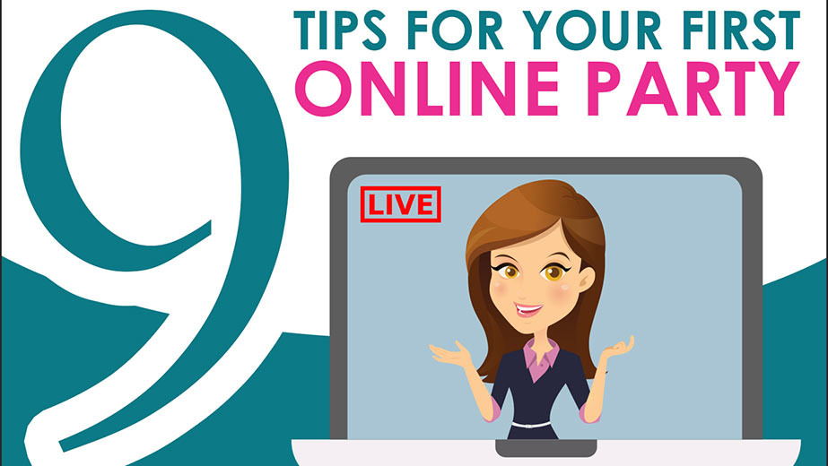Infographic: 9 Tips For Your First Online Party