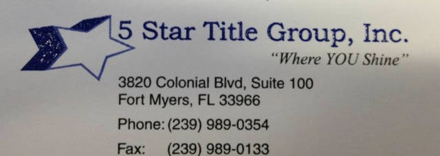 5 STAR TITLE GROUP, INC.