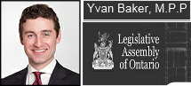 Yvan Baker MPP