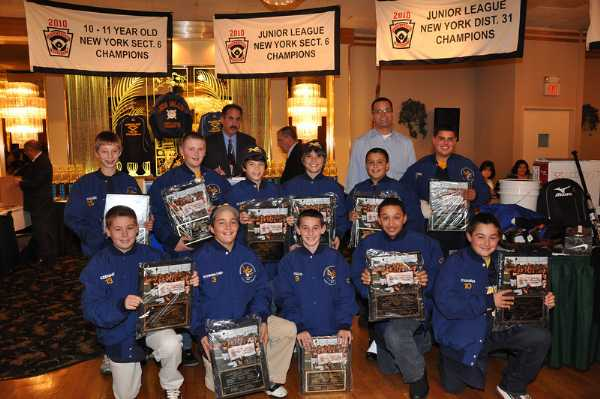 11 Year Old Williamsport Tournament Team after receiveing their Championship Jackets and PLaques for winning the Long Island Championship..