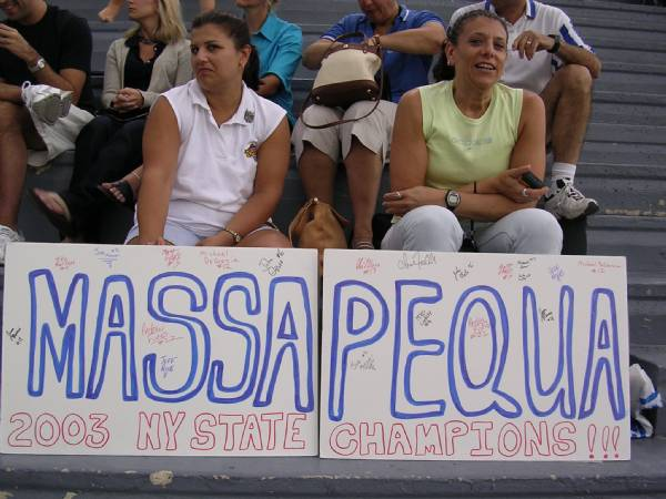 Parents of the Seniors Division State Champs supporting our team at the Eastern Regionals