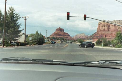 Entering Sedona, Az. and the magnificent rock formations.