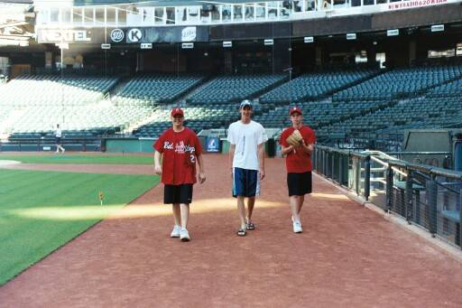 Bobby, Matt & Tim just strolling the field at Bank One.