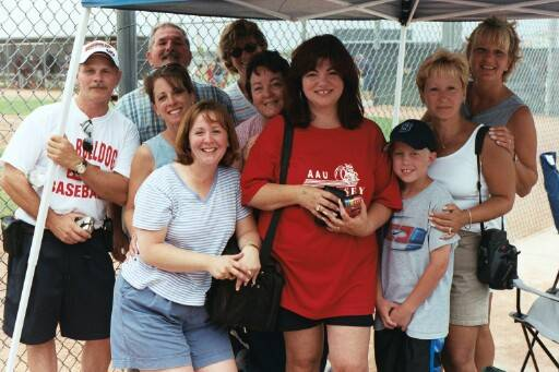 "(L-R) Our most loyal fans, who braved the heat of Arizona: Orrie, Jim, Shari, Ginny, Celine, Linda, Chancey, Kevin, Claudia, and Mary Beth. ""You're The Best!"""
