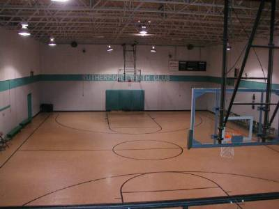 A photo overlooking courtside at The RYC from the 2nd floor.