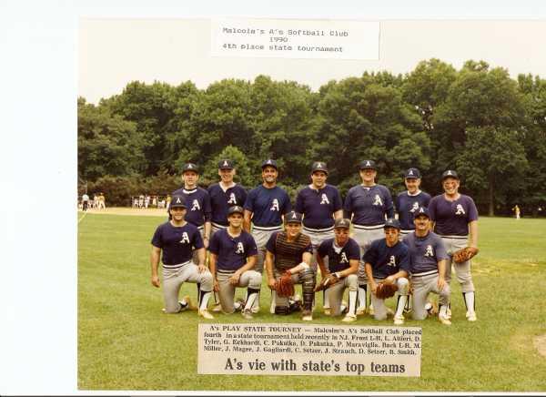 1990 First season in Meyersville League Photos taken at NJ State Tournament at Warinaco Park, Elizabeth