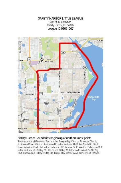 Safety Harbor Florida Map.Safety Harbor Little League Safety Harbor Fl Powered By