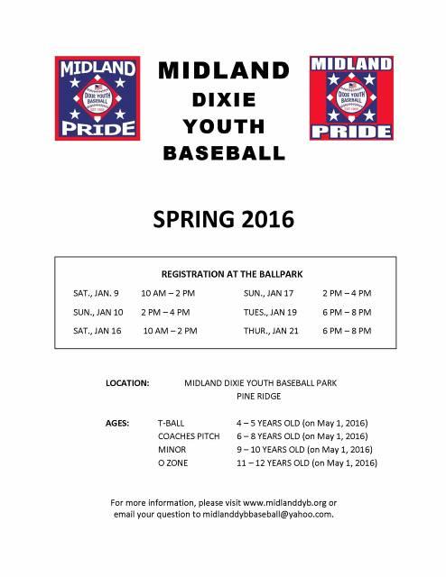 Midland DYB/Dixie Boys-Home of the Midland Pride - (WEST