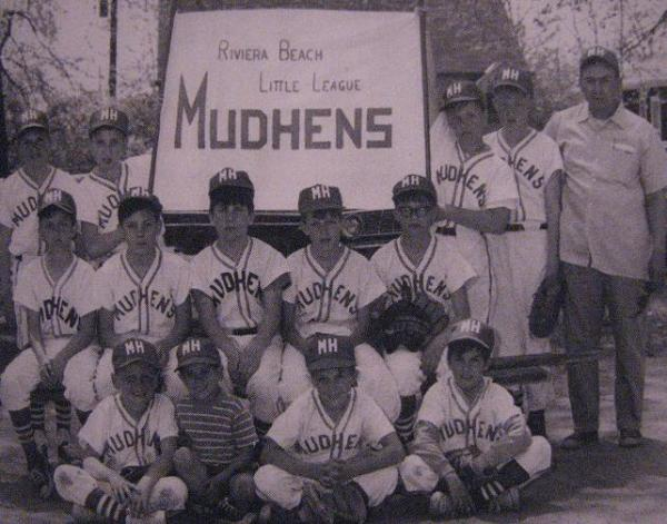 Circa 1960s.  The Riviera Little League Mudhens. 