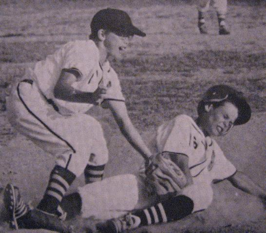 1970.  Out at second in the Riviera PONY League.  