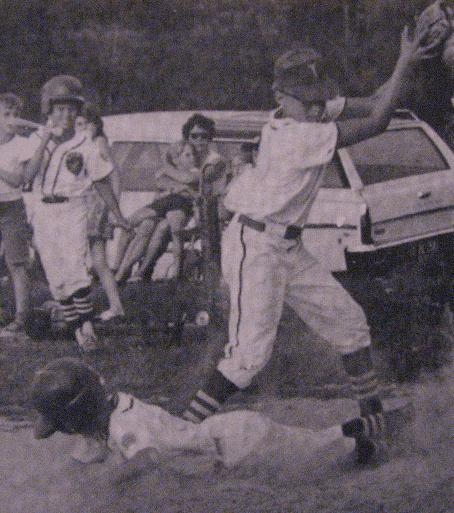 1970.  Safe at third in the Riviera PONY League. 