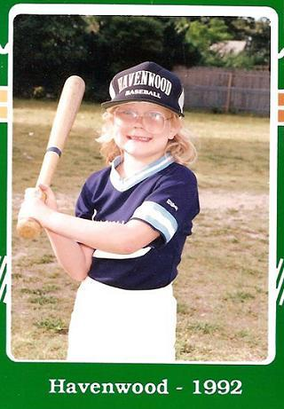 1992. Player card for Cindy Ratliff of the Havenwood Little League tee ball division.