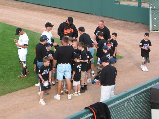 2003.  Bat-a-thon(R) team winners visit the Ironbirds in Aberdeen.