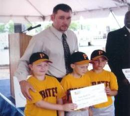 2004.  Intramural 8U Pirates manager Rob Dennis was selected Coach of the Year by Sandy Spring bank, for which he chose the Pasadena Baseball Club to receive a donation from the bank to start the Havenwood Park batting cage.