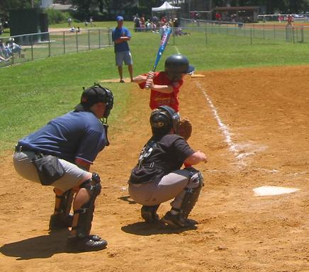 2004.  Chief Umpire Pat Dietz calls an Intramural All-star game.