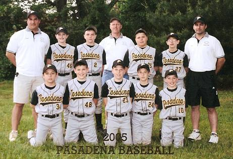 "2005.  The 12 year old Eagles Travel Team took second place in the Chesapeake Baseball Association 12U Division, and second place in the Bowie Baseball 12U ""A"" Tournament."