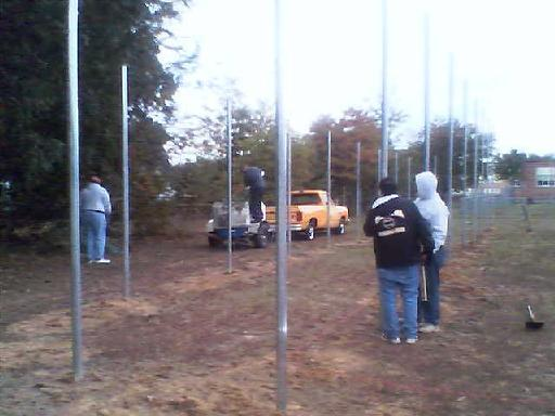 2005. Breaking ground for the Havenwood Park batting cage in the fall of 2005.