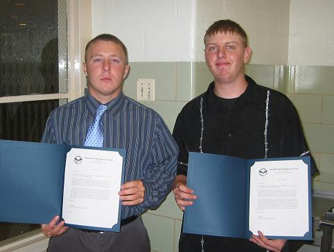 2005.  Scholarship winners Matt Moylan and Steve Grenagle.