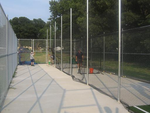 2006.  The Havenwood Park batting cage opens during the spring season for live pitching or a portable pitching machine.