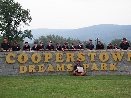 2006. The 12 year old Travel Team poses for a picture at Cooperstown Dreams Park.  More info on this tournament available on the Travel Baseball page.