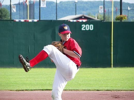 "2006.  Alex ""Rocky"" Ford of the 11U Eagles travel team winds up for a pitch at Cooperstown Dreams Park."