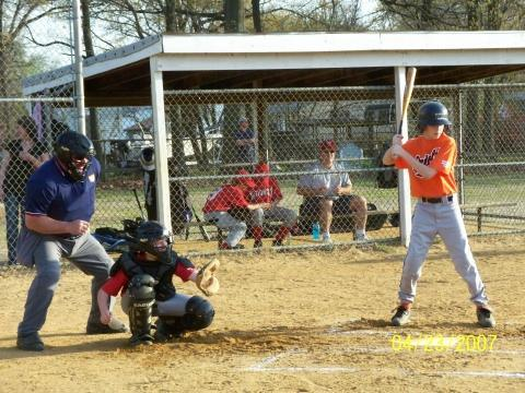 2007.  Jeff Gurley of the 12U Orioles waits for the perfect pitch at Havenwood Park.