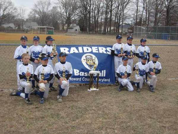2008.  The Howard County Raiders won the second annual Eagles Early-Bird 10U Travel Tournament at Havenwood Park.