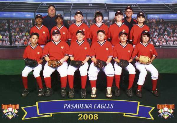 2008.  The 12U Eagles traveled to Cooperstown NY to compete in a week long tournament with teams from around the country - an annual Pasadena Baseball tradition.