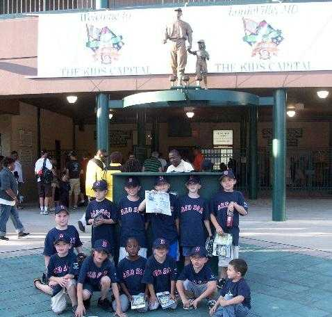 2009.  The 8U Red Sox won the Bat-a-thon team award - a visit to Baysox stadium.