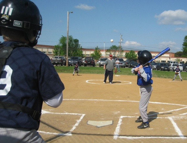 2010. Opening Day on the coach pitch field.