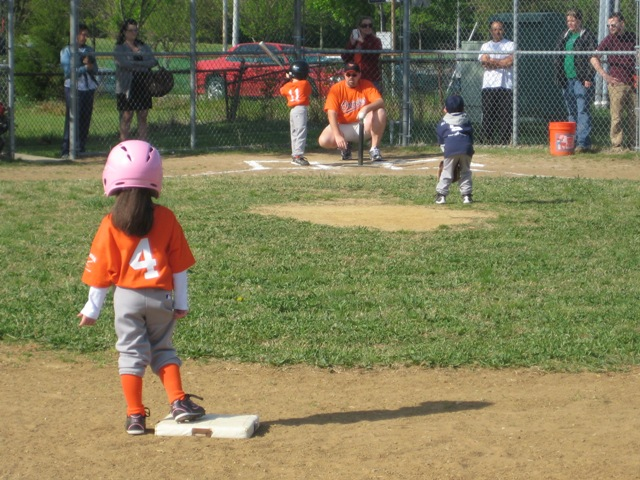 2010. Opening Day on the tee ball field.