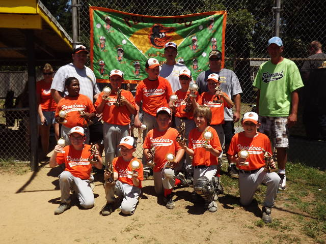 2012.  The 10U Orioles went undefeated in both the regular season and the World Series to earn the 10U Championship.