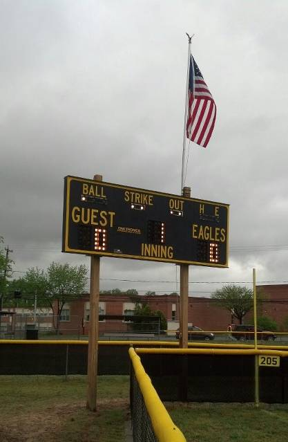 2013.  The Red Sox played the Nationals on April 29 for the first game using the scoreboard on Havenwood Park Field #2.