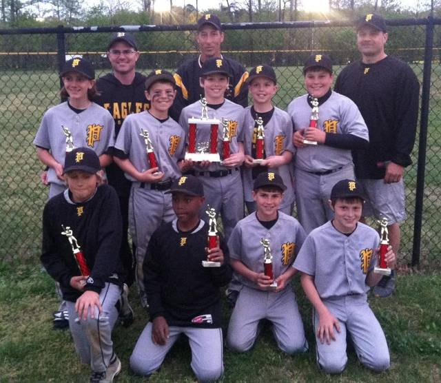 2013.  The 11 year old travel team finished 2nd in their Hammerin' at Havenwood Tournament, and 4th in the Annapolis Open.  Here they are pictured after finishing 2nd in the Severn Spring Break Tournament.