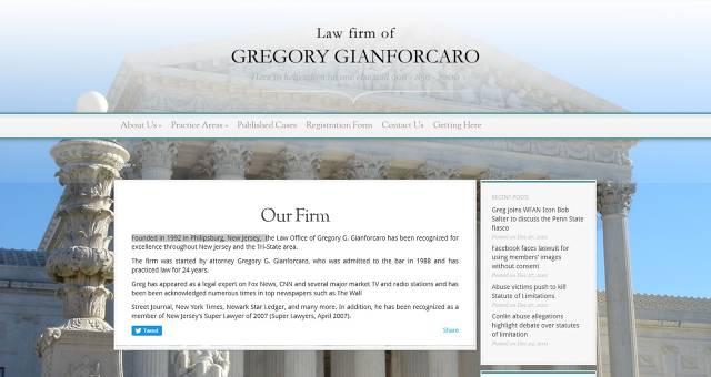 Gregory G. Gianforcaro ESQ.