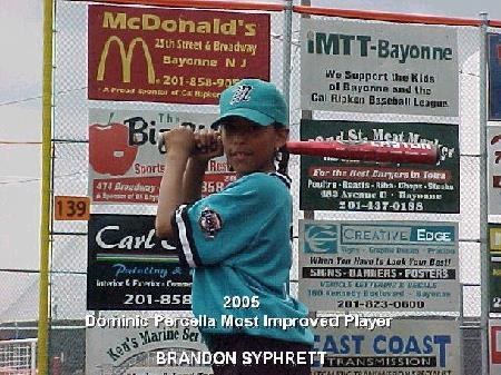 2005 Most Improved Player - Brandon Syphrett