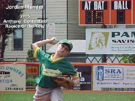 2005 Rookie of the Year - Jordan Mundell