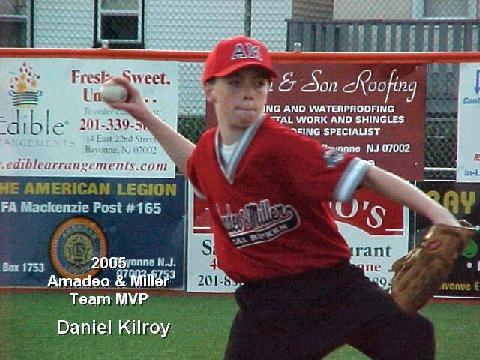 Amadeo & Miller 2005 Team MVP - Daniel Kilroy