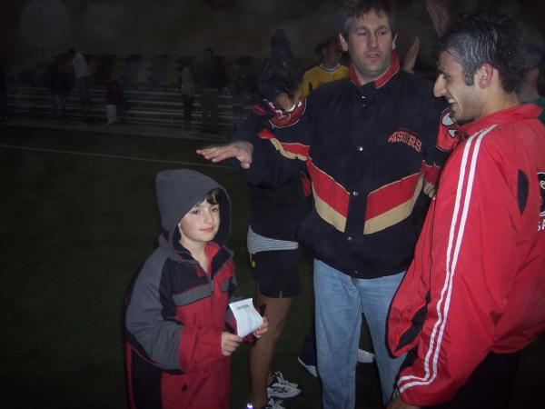 Yousef Samy enjoys talking about the game with the fans.