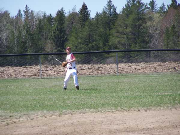 Tyler Brockpahler playing his position during the 2007 season opener at Red Eye.