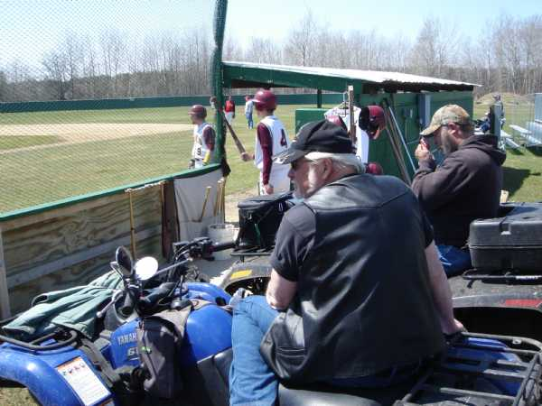 If you don't want to sit in the grandstand or on the bleachers, just bring your 4 wheeler like these Gnats fans do every game.  Easy cooler access strapped to the cargo rack of your ATV.