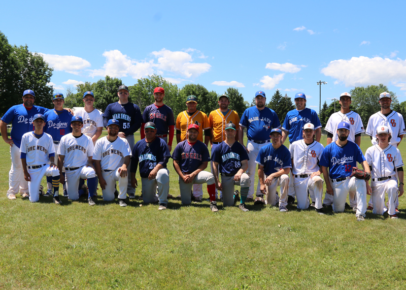 East Division All-Stars<br />Back row from left: Ron Dipalma, Brandon Nieva, Carter Burnside, Cale McLean, Adam Foote, Chris Leslie, Ryan Bennett, Chris Rettie, Ryan Vanveen, Nathan Drury, coach Kevin Buck.<br />