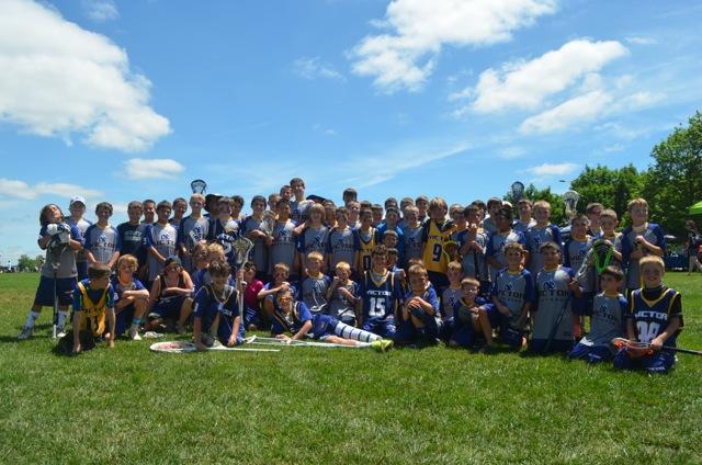 VBYL Grades 3-6  in attendance at Lehigh Laxfest 2015