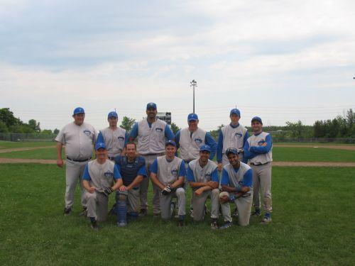 The Diamonds pose after reaching the semifinals of the Nepean tourney.