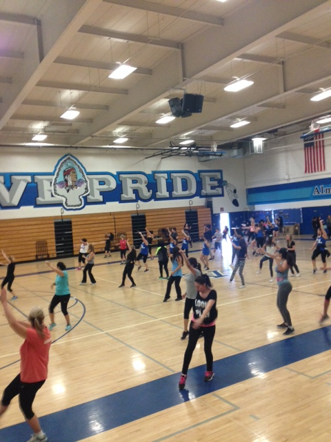People having fun at our 2nd Zumba!!