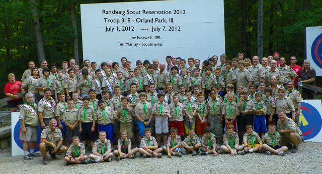 Troop 318 - Camp Ransburg  2012